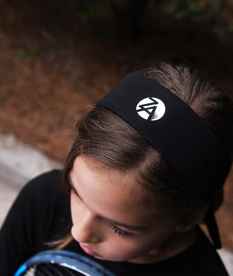 girls tennis headband black zoe alexander