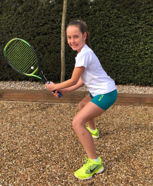 girls cotton tennis tee raglan zoe alexander uk