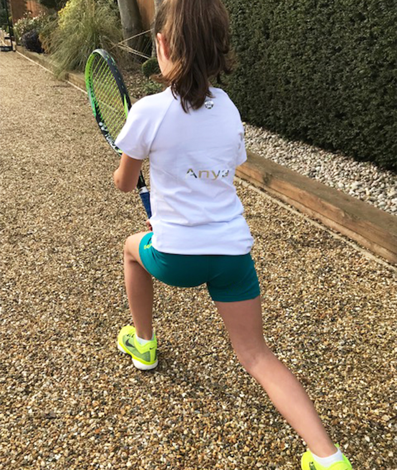 raglan tee shirt girls tennis zoe alexander