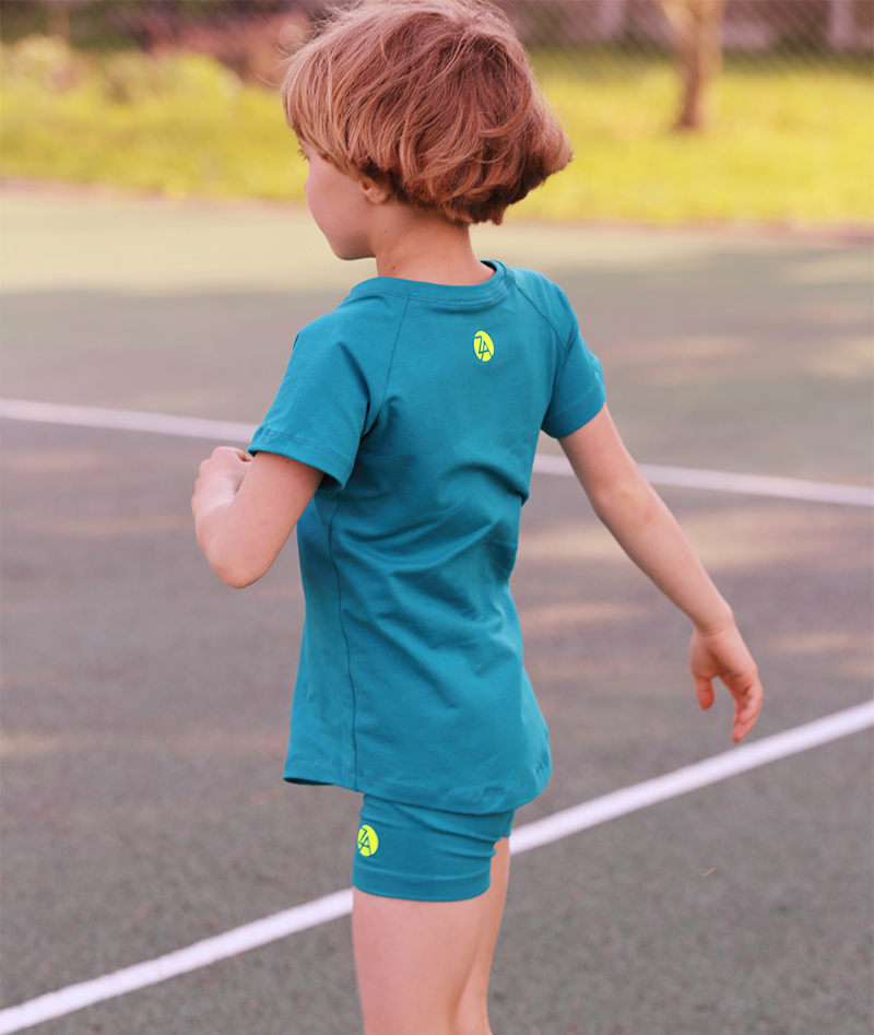 girls cotton tennis raglan t shirt zoe alexander