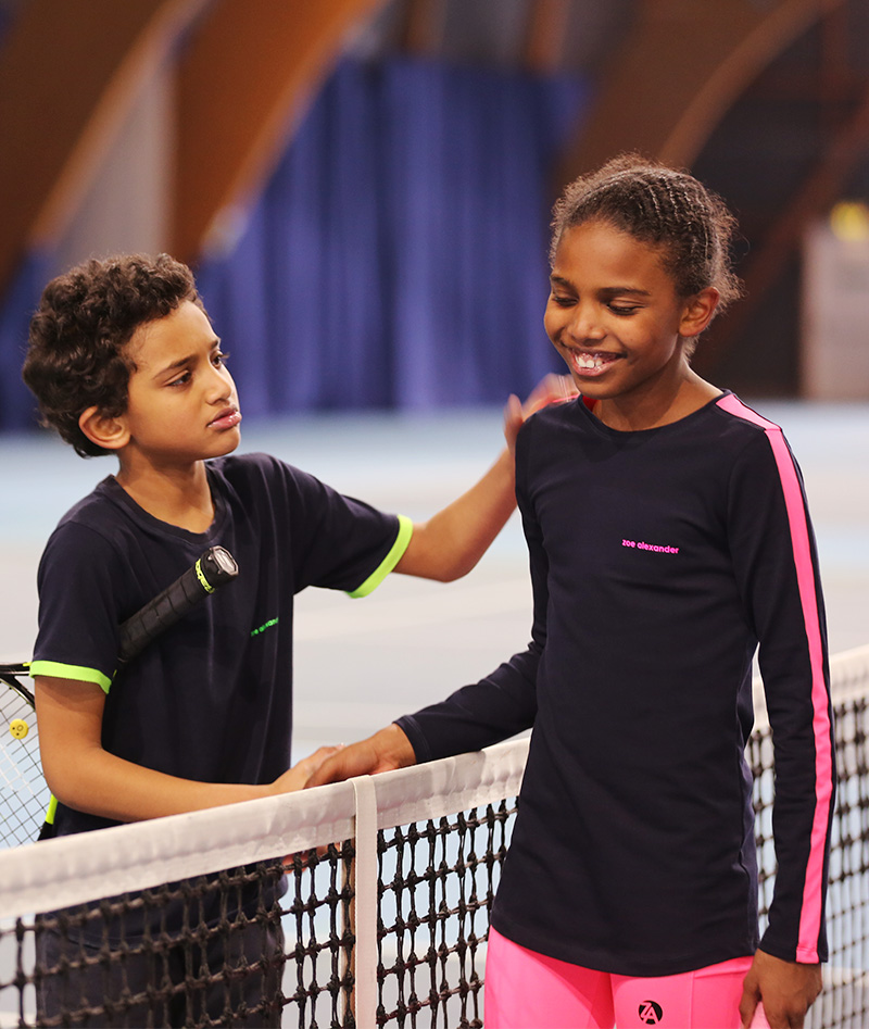 maria navy tennis training top for girls zoe alexander uk