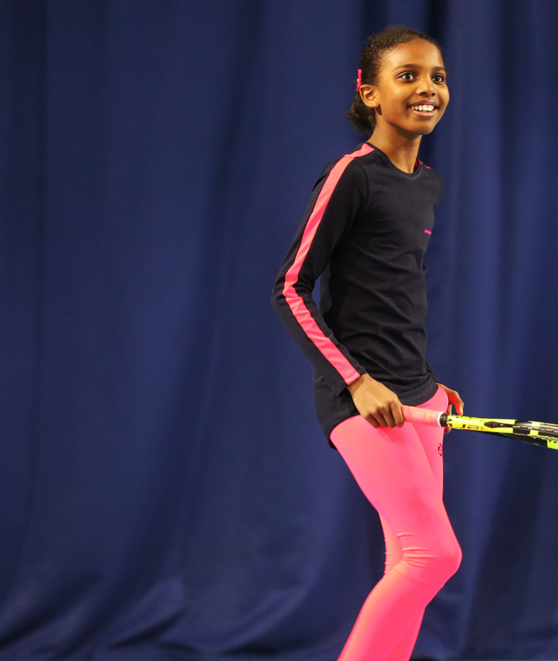 long sleeve training tennis top for girls zoe alexander