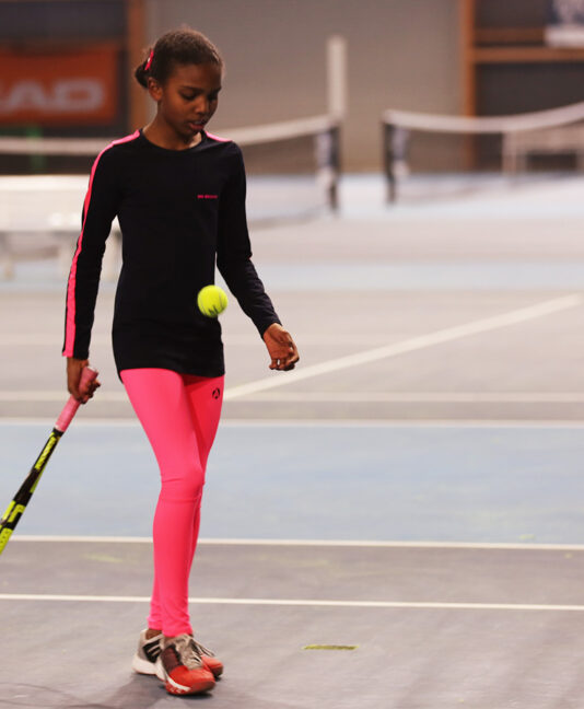 neon tennis leggings pink