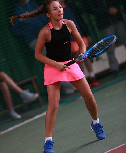 pink black girls tennis dress zoe alexander sapir