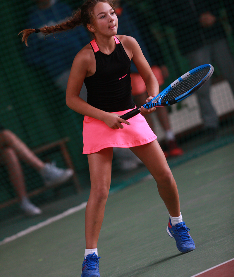 pink black girls tennis dress zoe alexander sapir