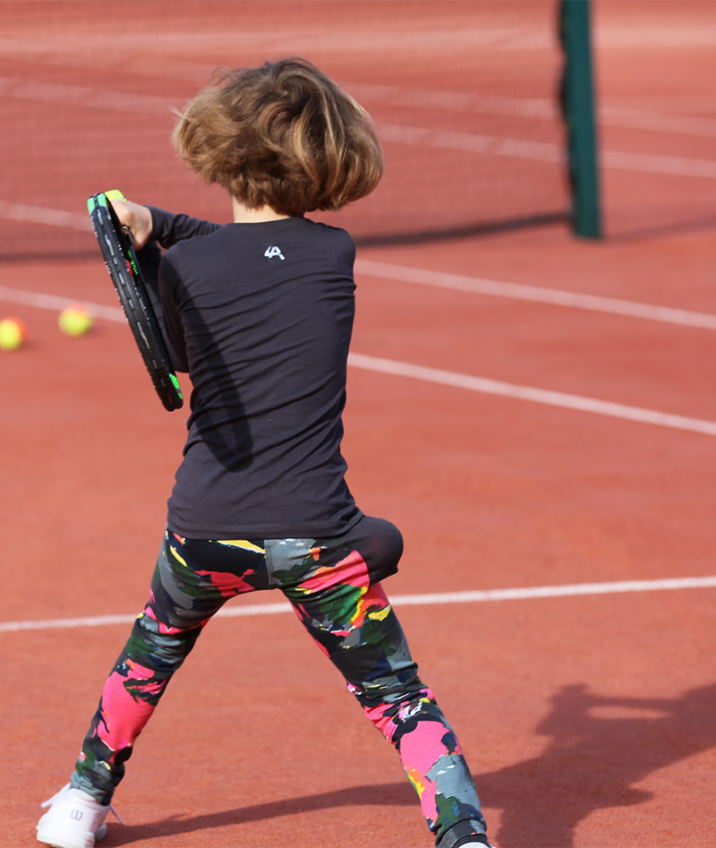 tennis leggings with ball pocket by zoe alexander uk