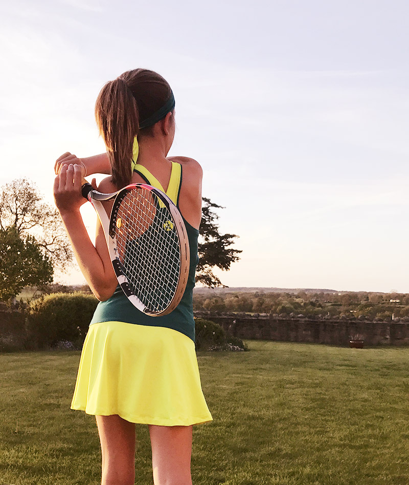 grils tennis dress racerback verity zoe alexander uk