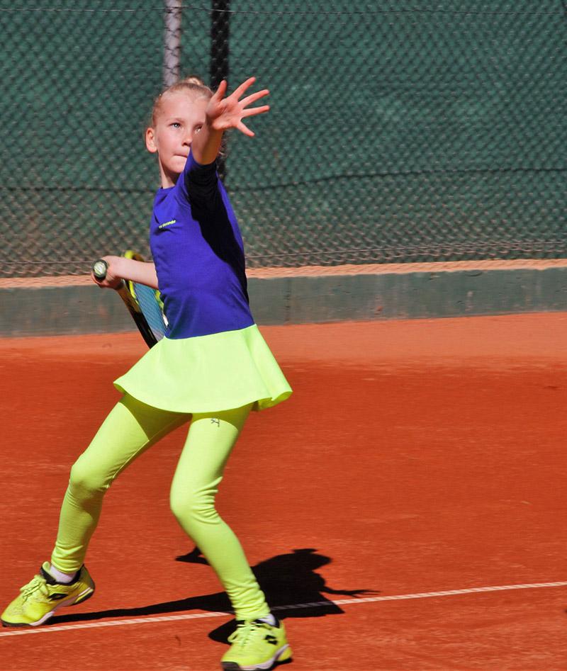 yellow tennis leggings neon by zoe alexander uk