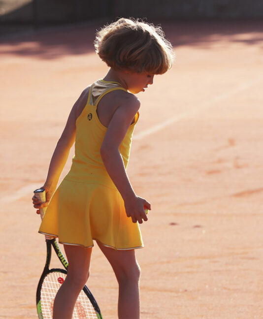 girls tennis dress us open sunshine yellow by zoe alexander