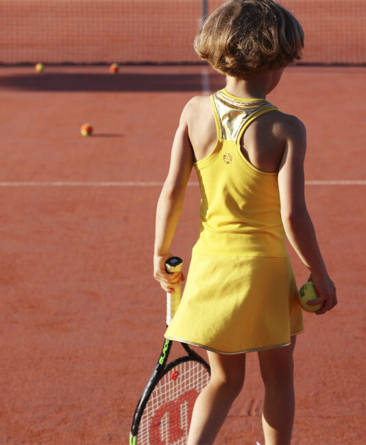 yellow tennis dress for girls us open sunshine zoe alexander