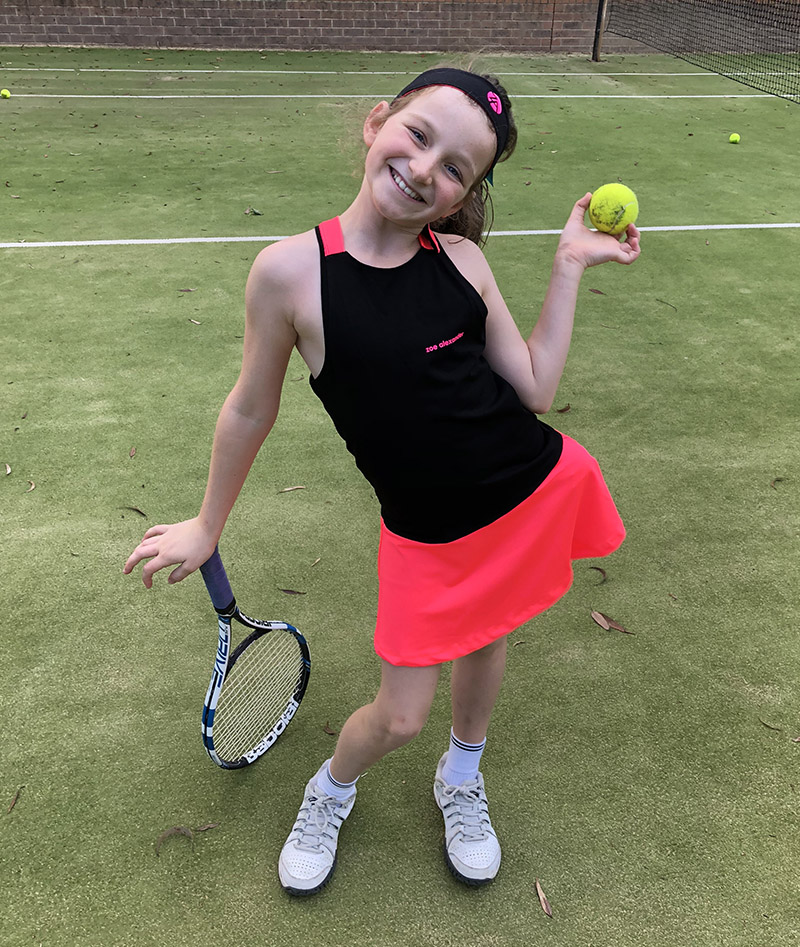 girls headband tennis neon dress Zoe Alexander uk za