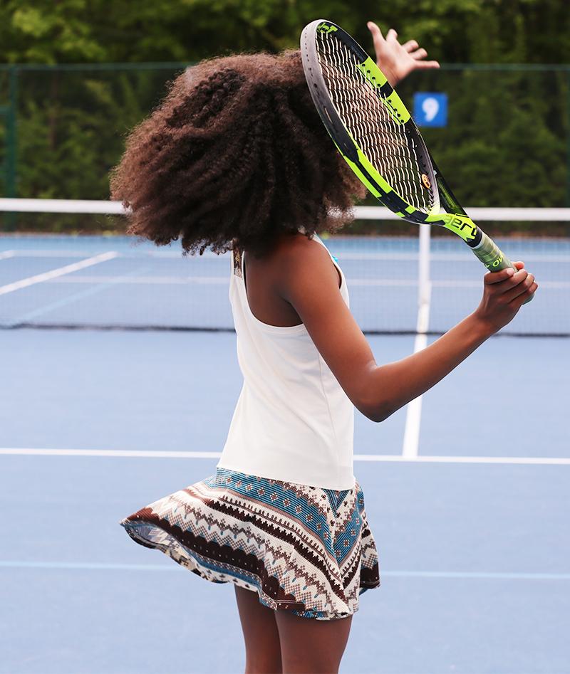 designer print aztec zoe alexander girls tennis dress