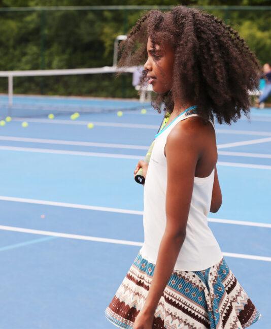 girls tennis dress designer aztec print zoe alexander uk