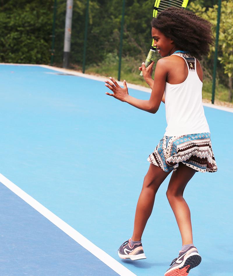 designer print racerback girls tennis dress zoe alexander