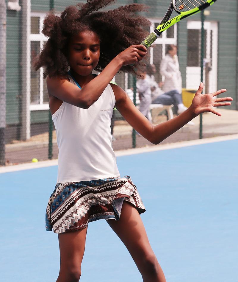 aztec designe reprint zoé alexander tennis dress for girls