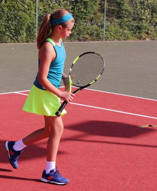petrol green girls tennis dress verity racerback zoe alexander