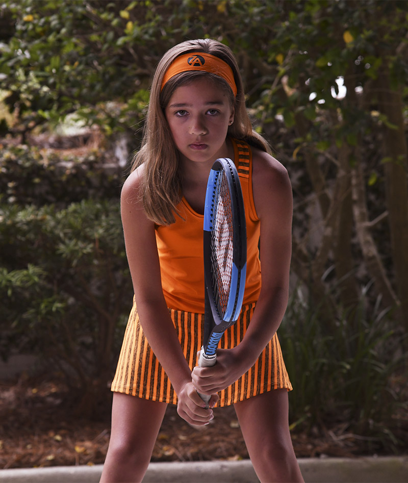 orange tennis dress girls racerback by zoe alexander uk