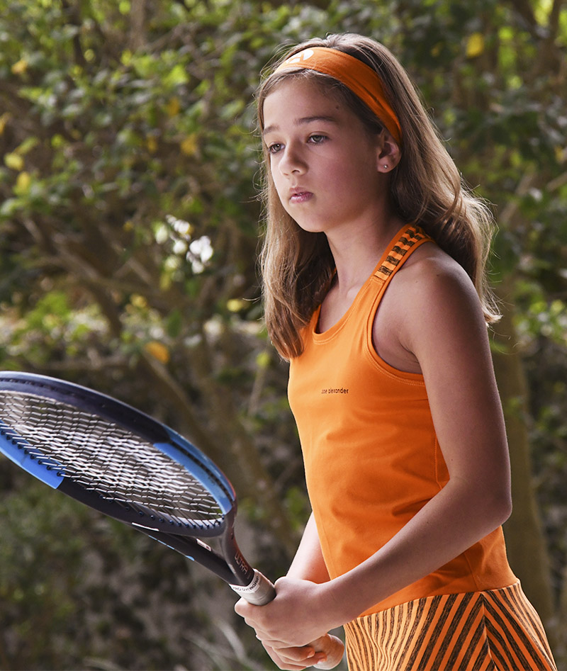 girls tennis dress orange racerback zoe alexander carla