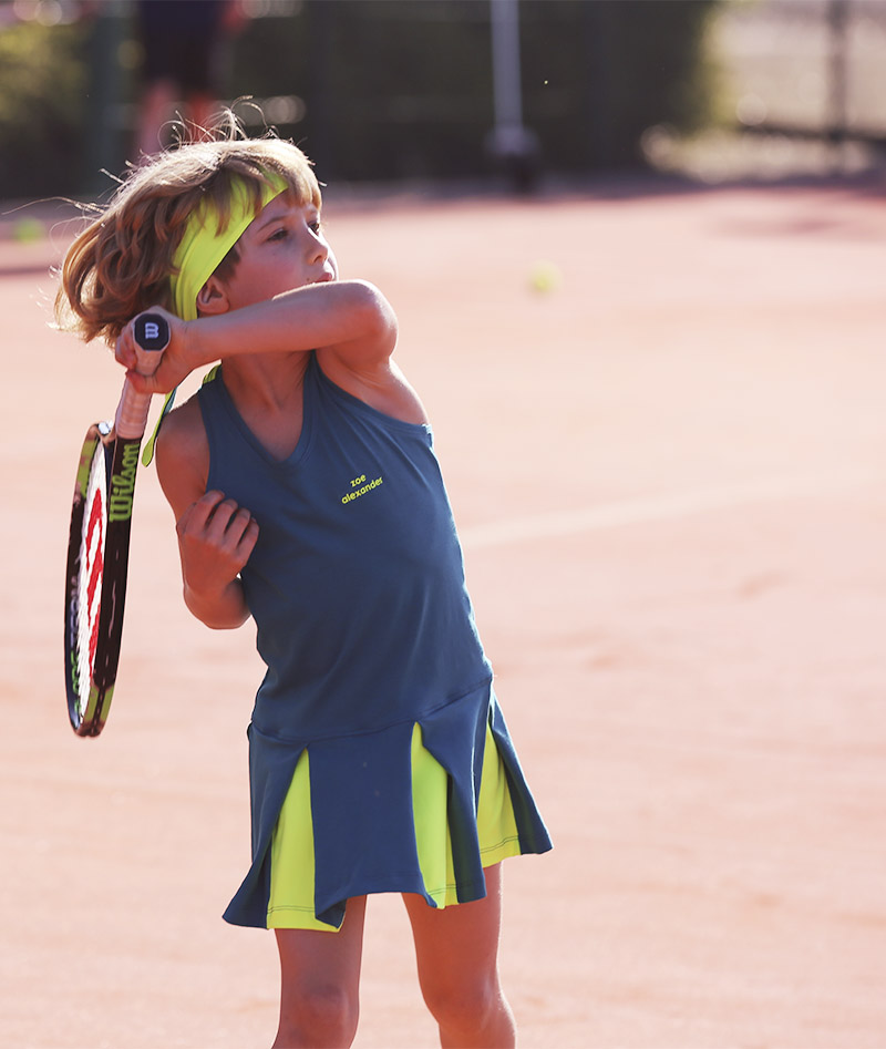petra green tennis dress for girls uk headband zoe alexander