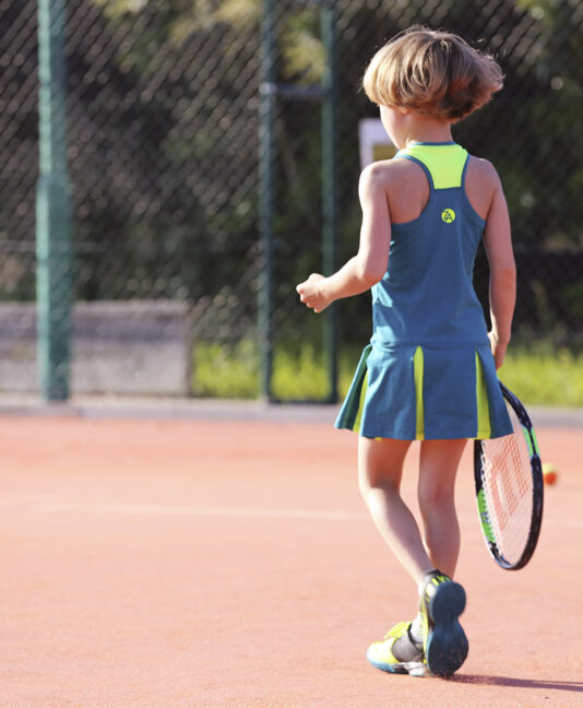 girls tennis dress teal green zoe alexander