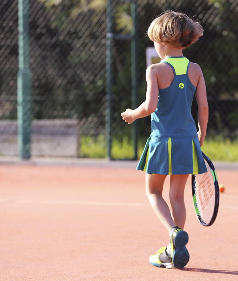 girls tennis dress teal green zoe alexander