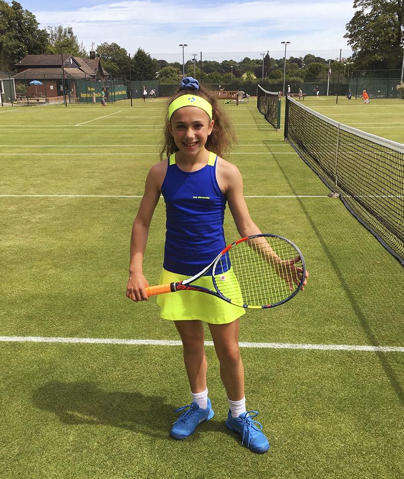 blue yellow tennis dress zoe alexander uk
