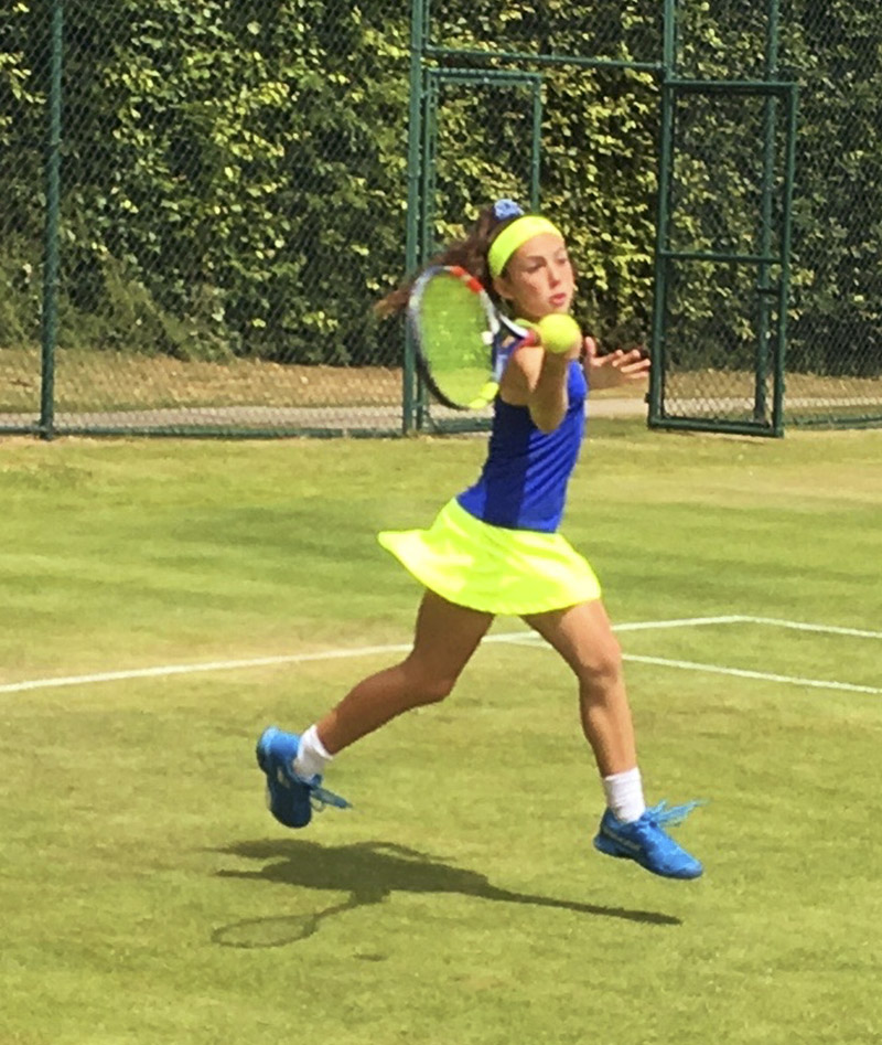 daria blue tennis dress by zoe alexander uk