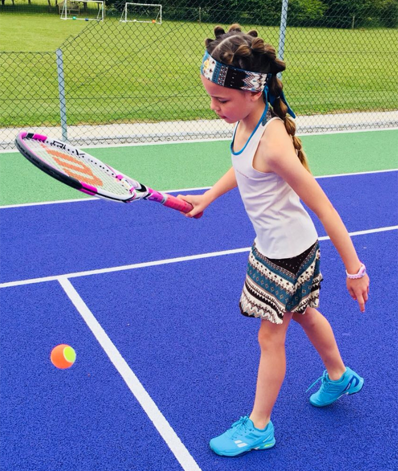 girl tennis dress aztec blue Zoe Alexander UK za