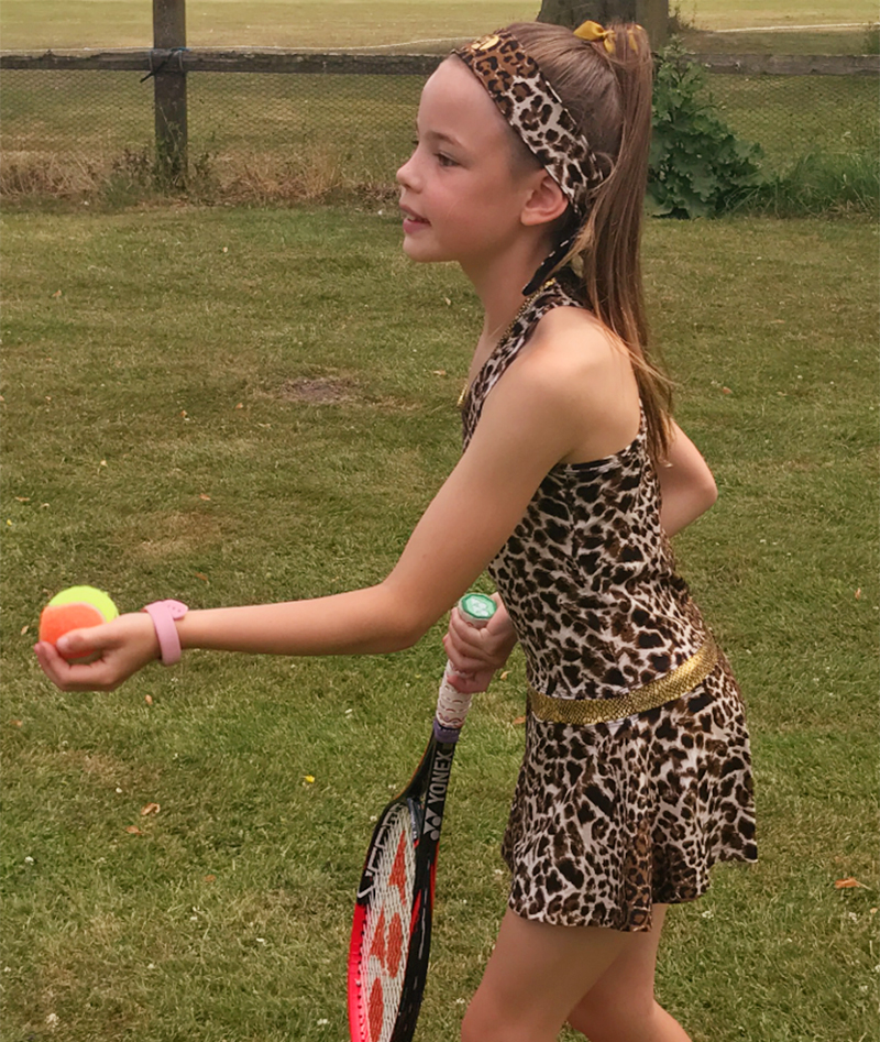 TENNIS DRESSES LEAOPARD ANIMAL PRINT ZA