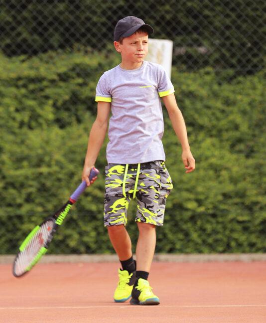 boys tennis outfit neon camo zoe alexander uk