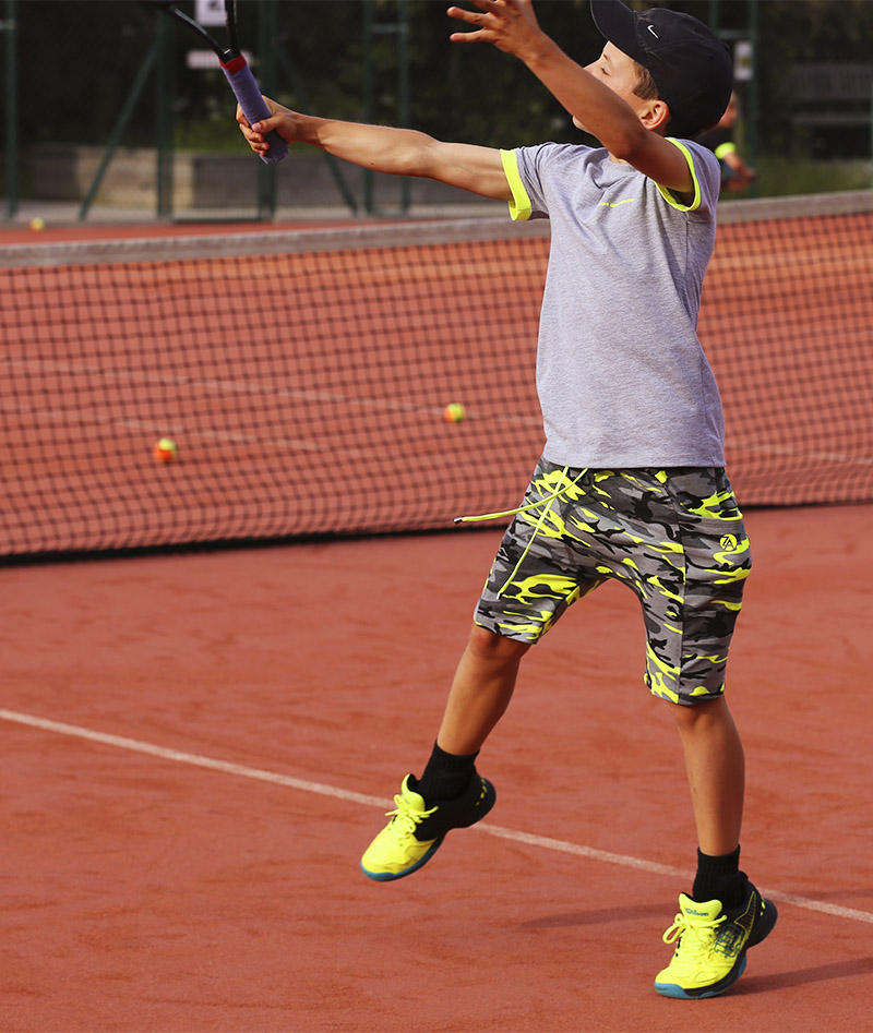 grey yellow neon camo tennis kit boys zoe alexander uk