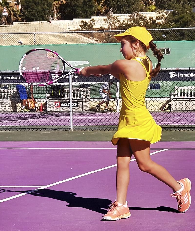 girls tennis dress sunshine US OPEN Zoe Alexander UK