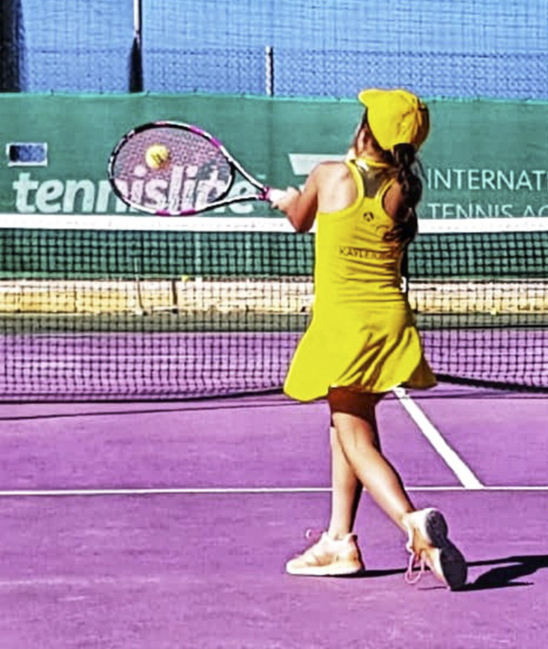 girls tennis dress yellow US OPEN Zoe Alexander UK