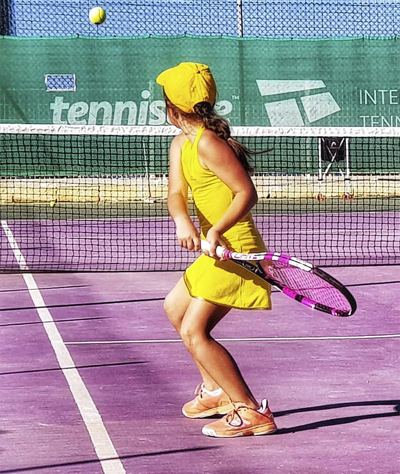 girls tennis dresses yellow US OPEN Zoe Alexander UK