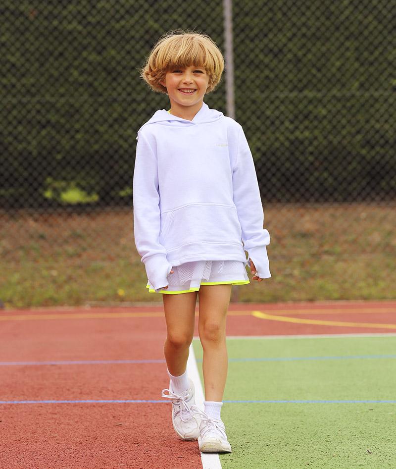 tennis clothes whites dress hoodie Wilson racket shoos
