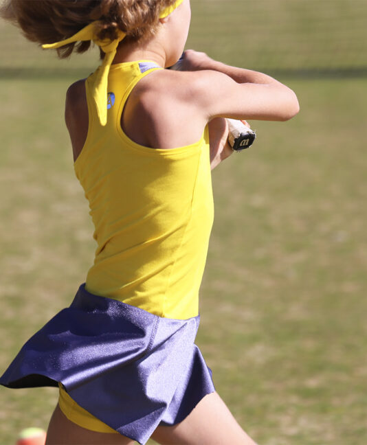 madison yellow girls tennis dress from zoe alexander uk