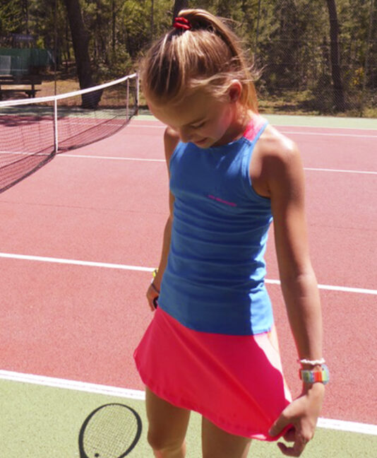 racerback gigina girls tennis dress aqua blue zoe alexander