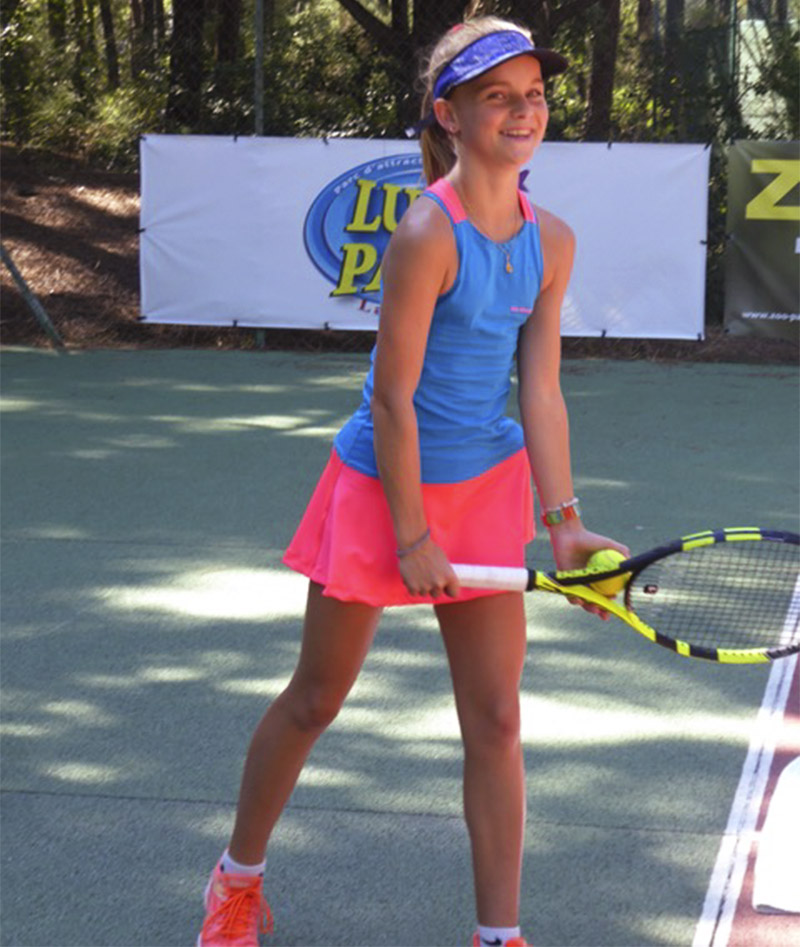aqua blue racerback girls tennis dress gigina zoe alexander