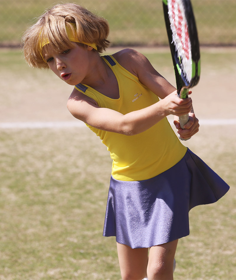 girls tennis dress yellow madison zoe alexander uk