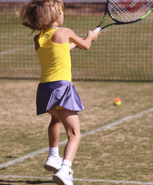 girls tennis dress madison yellow zoe alexander uk