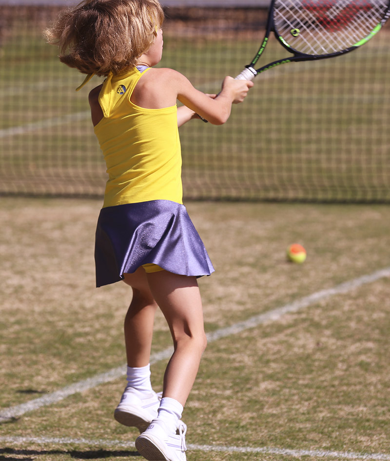 girls tennis dress madison yellow zoe alexander uk