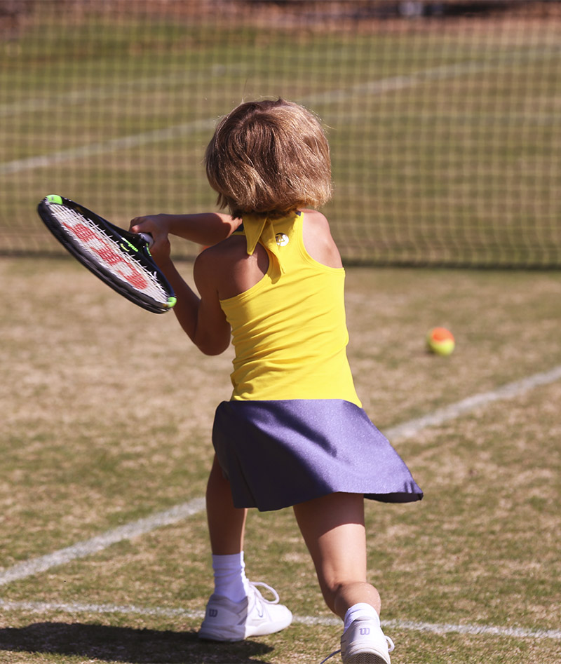 racerback yellow girls tennis dress by zoe alexander uk