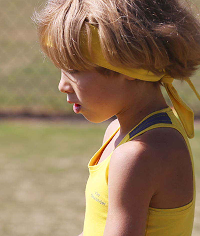 yellow tennis dress for girls racerback zoe alexander madison