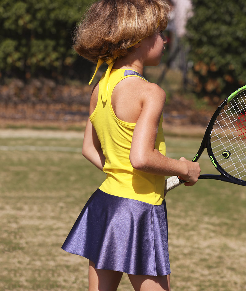 yellow madison tennis dress for girls zoe alexander uk