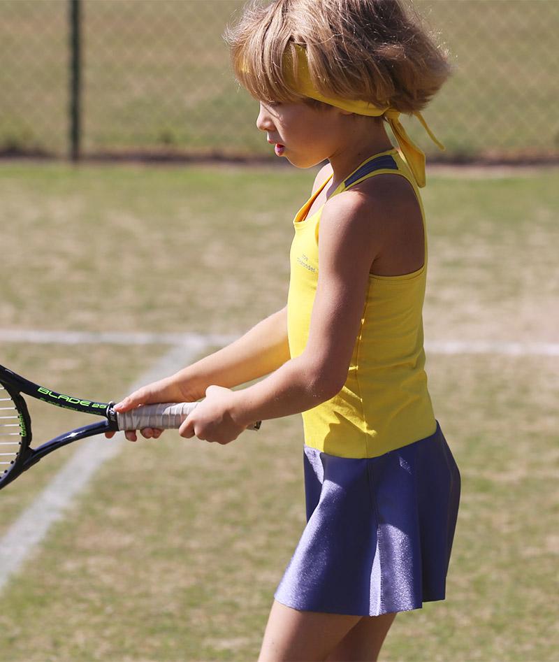 yellow racerback madison tennis dress yellow zoe alexander uk