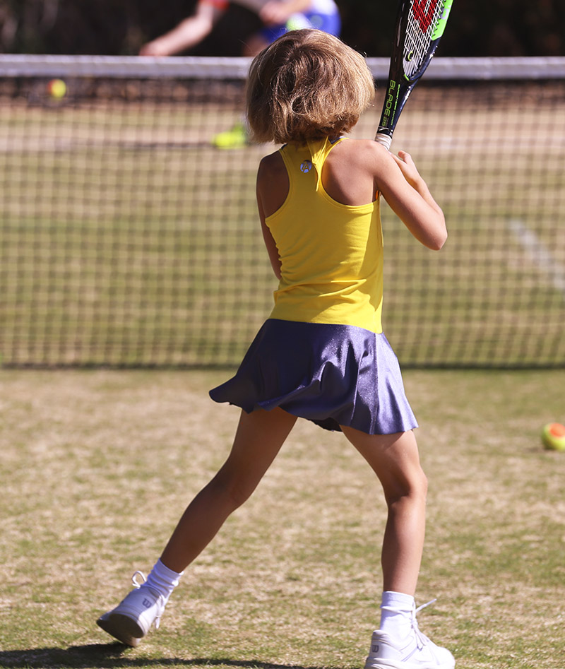 yellow girls tennis dress madison zoe alexander uk