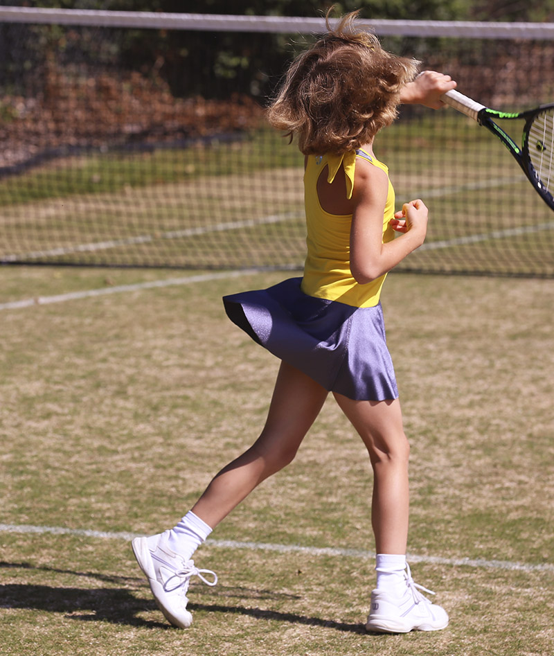 yellow racerback girls tennis dress madison zoe alexander uk