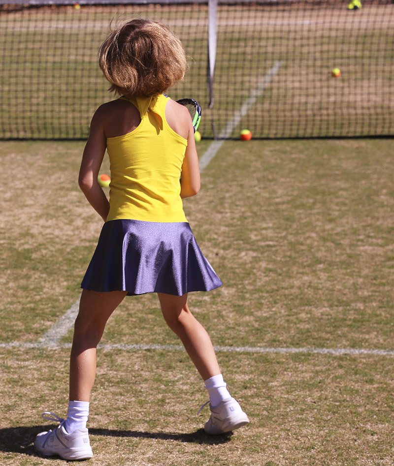 yellow tennis dress racerback zoe alexander uk madison