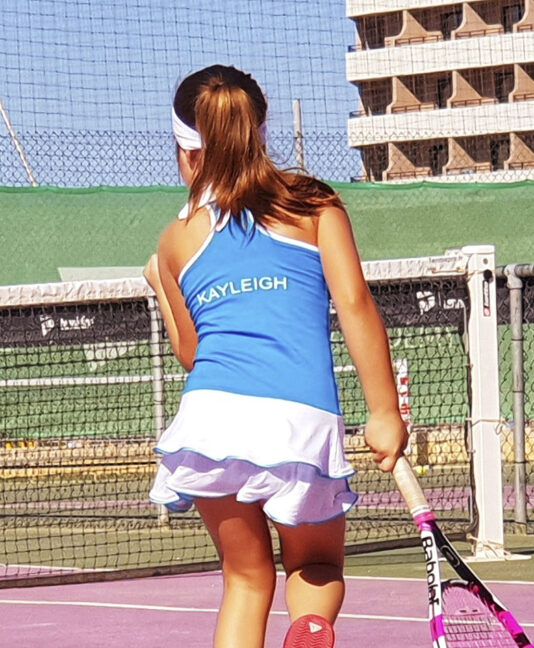 tennis dress girl blue Henrietta Zoe Alexander uk za
