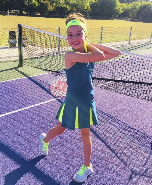 tennis dress girls Petra neon teal petrol Zoe Alexander uk za